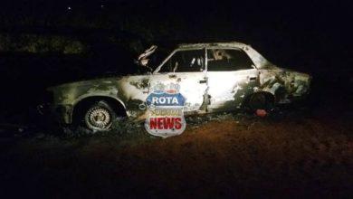 Photo of Veículo pega fogo na área rural de Vilhena
