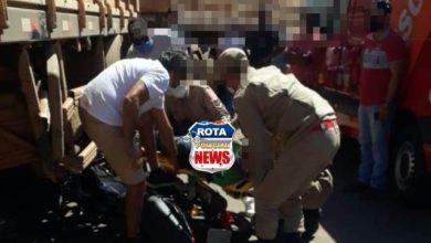 Photo of Urgente: motociclista fica em estado grave após colisão entre moto e carreta na BR-364