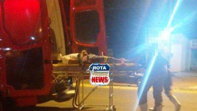 Foto de Motociclista sofre ferimentos após acidente entre carro e motoneta na BR-174