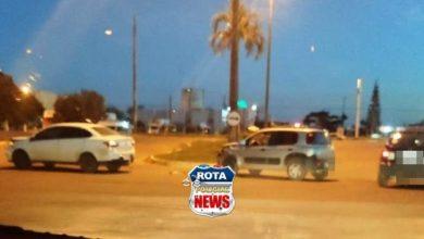 Photo of Veículos colidem em rotatória da BR-364  no perímetro urbano de Vilhena