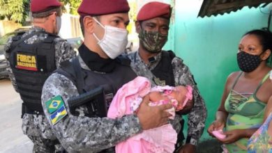 Photo of Policial Militar de Vilhena que integrada a Força Nacional ajuda a salvar a vida de criança recém-nascida, em Pernambuco