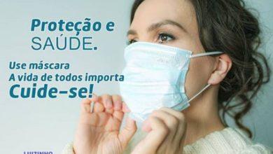 Foto de Luizinho Goebel orienta população quanto ao uso de máscaras