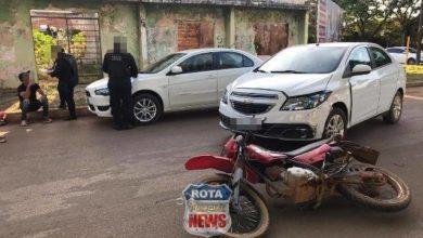 Photo of Acidente entre carro e motocicleta é registrado em Vilhena