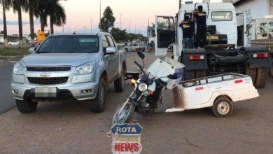 Photo of Motociclista fica ferido após acidente em pátio de posto