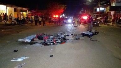 Foto de Colisão frontal entre motos deixa duas vítimas fatais e uma criança de 9 anos em estado grave
