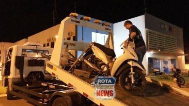 Foto de PRF recupera moto roubada e com placa adulterada para Vilhena na BR-435