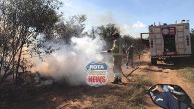 Photo of Incêndio em vegetação que pertence à FAB em Vilhena volta a causar transtornos no município