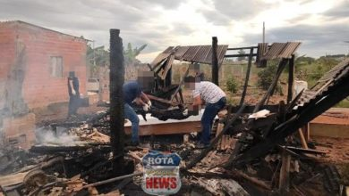 Foto de Homem morre carbonizado após incêndio em residência na área rural de Vilhena
