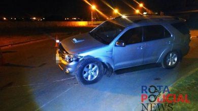 Foto de Polícia registra colisão entre veículos em frente ao parque de exposições em Vilhena