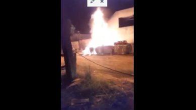 Photo of Bombeiros apagam incêndio criminoso em material reciclável na cidade de Vilhena