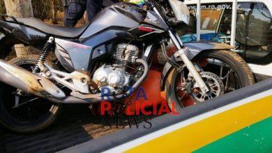 Foto de Urgente: motocicleta que havia sido furtada  na madrugada é recuperada por radiopatrulhas da PM em Vilhena
