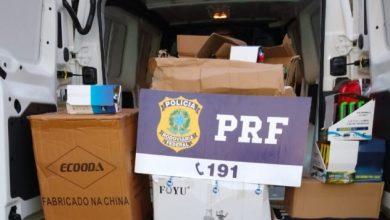 Foto de Em Vilhena/RO, PRF, RFB e Sefin/RO identificam eletrônicos transportados sem nota fiscal