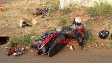 Foto de Jovem fica em estado grave após colisão entre motos em Colorado do Oeste
