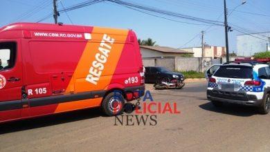 Foto de Colisão entre carro e motocicleta deixa feridos neste domingo