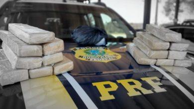 Foto de PRF encontra 16 kg de drogas em bagagem de passageira de ônibus