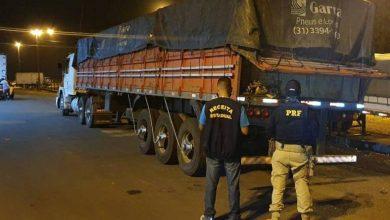 Foto de PRF e Receita Federal apreendem caminhão com 33³ de madeira em Vilhena