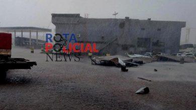 Foto de Vários foram os estragos causados pela forte chuva em Vilhena