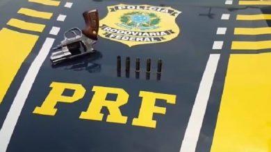 Foto de Em Vilhena/RO, PRF apreende arma de fogo na BR-364