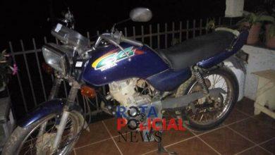 Foto de Motocicleta que havia sido furtada é recuperada pela PM em Colorado do Oeste