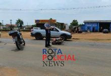 Foto de Motocicletas se envolvem em colisão na BR-174 no perímetro urbano de Vilhena