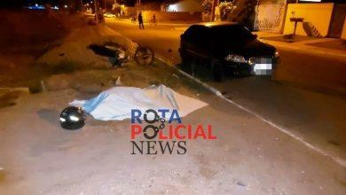 Foto de Motociclista morre após colidir contra carro parado no Orleans