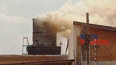 Foto de Urgente: Bombeiros controlam incêndio em silo no setor 06 em Vilhena