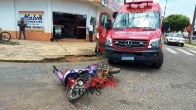 Foto de Indígena inabilitado avança preferencial e  provoca acidente no Centro de Vilhena