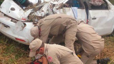 Foto de Idosa morre em trágico capotamento na BR-364 e motorista fica em estado grave