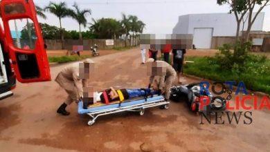 Foto de Motociclista se envolve em acidente na BR-174 em Vilhena